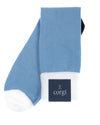 Carolina Blue & White Cotton Socks
