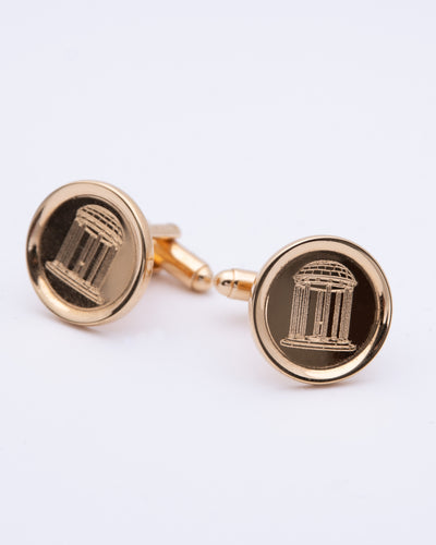 Old Well Gold Plated Rimmed Cufflinks