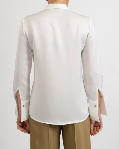 Rania Viscose Off White Blouse