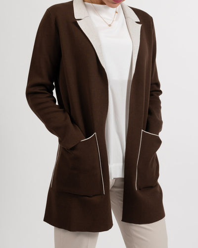 Brown Long Cotton Cardi
