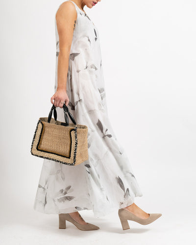 Linen Floral Brushstroke Dress
