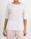 Cuffed Sleeve T Shirt