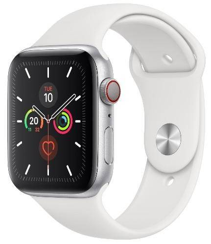Used And Refurbished Secondhand Apple Watch Series 5 GPS + LTE 44mm - - Silver - Very good - Reebelo.