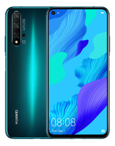 Used And Refurbished Secondhand Huawei Nova 5T - Green - 128GB - Reebelo