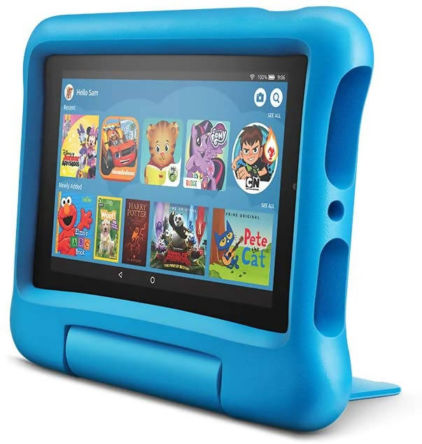 Used And Refurbished Secondhand Amazon Fire 7 Kids Edition - Blue - 16 GB - Reebelo