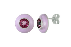 ENAMEL GEMSTONE EARRINGS