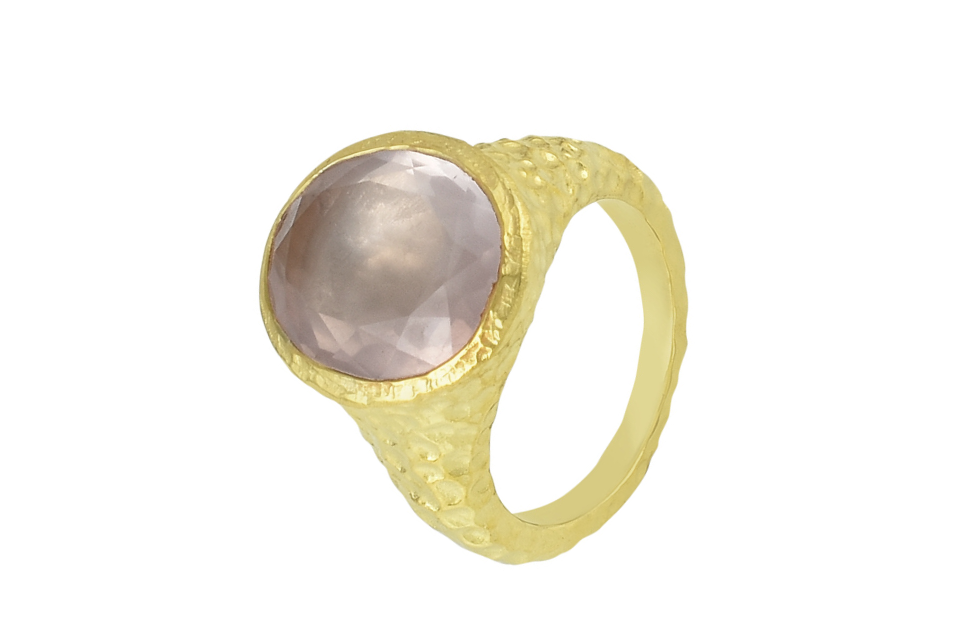 ROSE QUARTZ AYLA RING