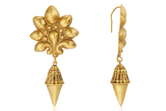 TRADITIONAL FLORAL MOTIF EARRINGS