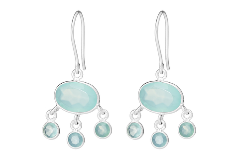 BABY JELLYFISH DROPS IN CHALCEDONY