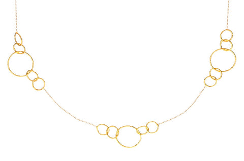 CIRCLE STATION NECKLACE IN YELLOW GOLD