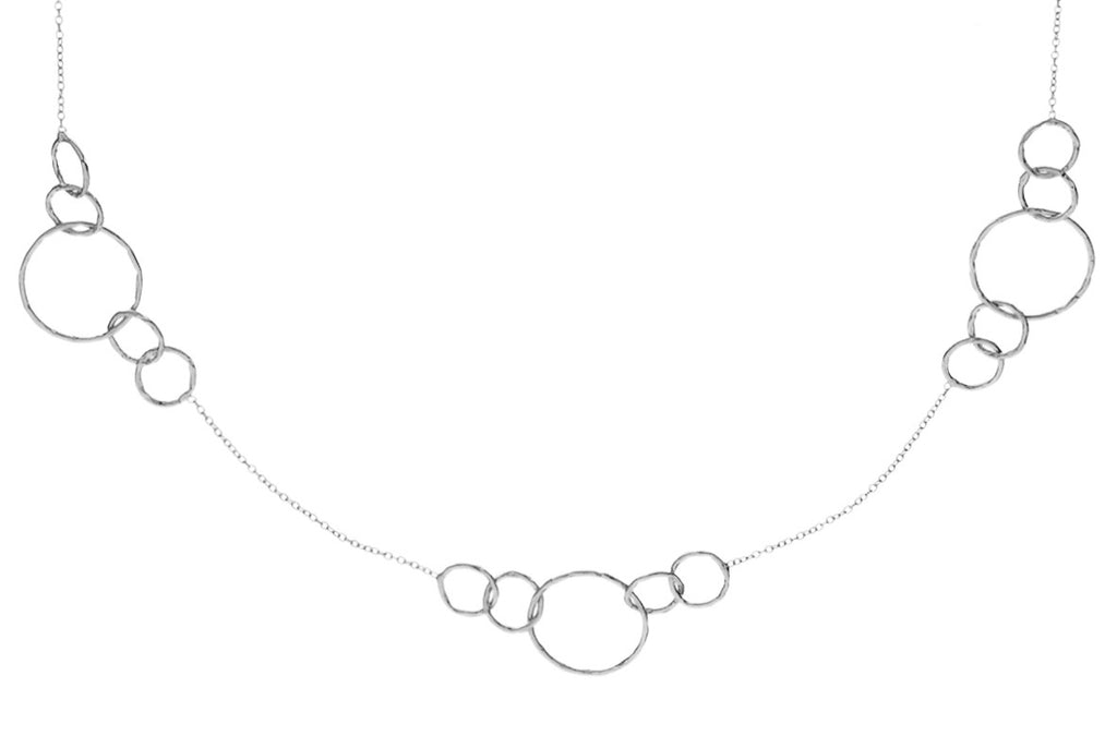 CIRCLE STATION NECKLACE IN SILVER