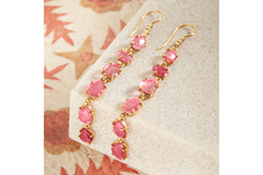 TOURMALINE LINE EARRINGS