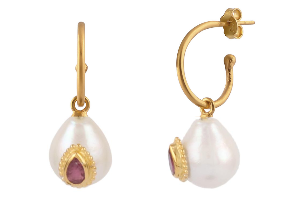 PEARL INSET EARRINGS