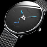 Men's Watch Stainless Steel Case Mesh Strap Quartz Male Business Clock Fashion Casual Men's Gifts watches men Relogio masculino
