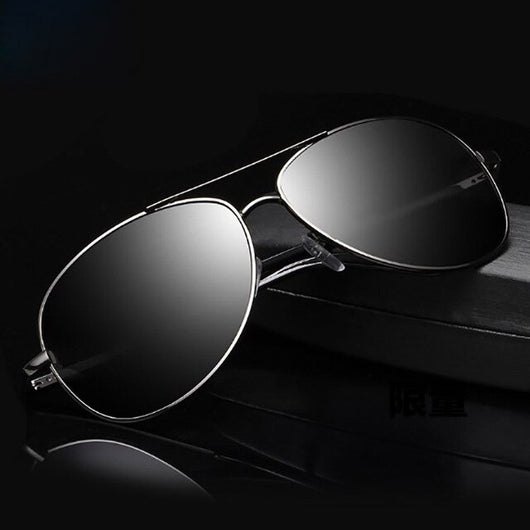 Classic Men's Big Box Sun Glasses Polarized Glasses Outdoor Travel Fishing Sunglasses Aviator Sunglasses Polarized UV400 Men Sun