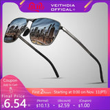 VEITHDIA Brand Men's Vintage Square Sunglasses Polarized UV400 Lens Eyewear Accessories Male Sun Glasses For Men/Women V2462