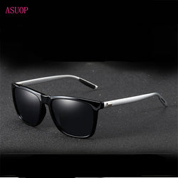 New polarized men's sunglasses UV400 coated glasses square elastic frame ladies sunglasses fashion brand driving sunglasses