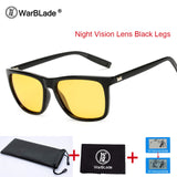 WarBLade Night Vision Goggles Polarized Sunglasses For Men's Car Driving Sun Glasses Vintage Outdoors Lunette Soleil Homme