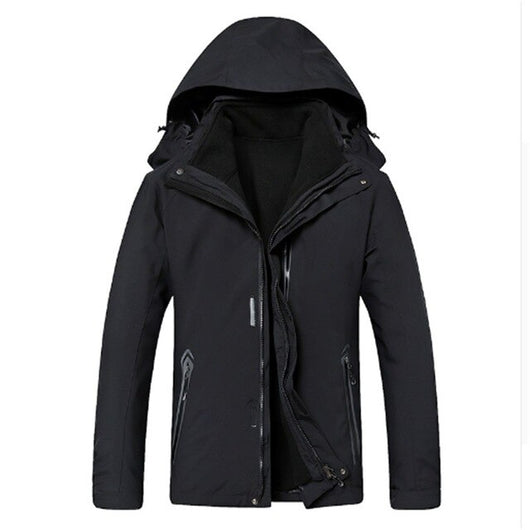 new plus size 8XL 7XL 6XL Waterproof Winter Jacket Men Warm 2 in 1 Parkas Windproof Detachable Hood Winter Coat large big size