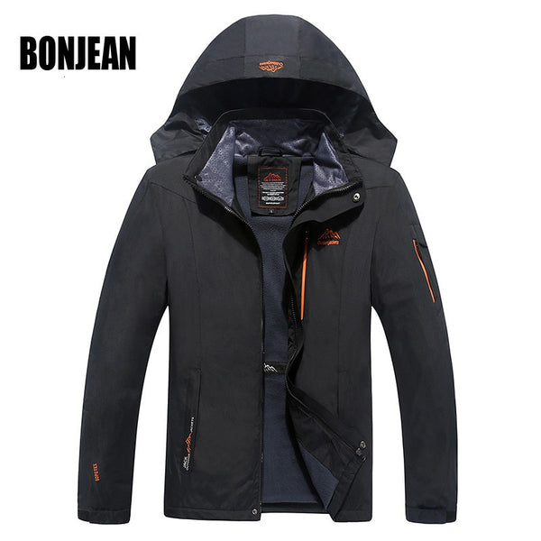Newest design Jacket Men's Waterproof Windbreaker Warm Coat Men Large Size 5XL 6XL Hooded Jackets Casual OutdoorJackets Overcoat