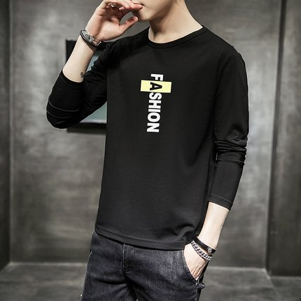Autumn and winter new men's casual long-sleeved fashion simple t-shirt  9149