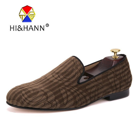 luxurious Genuine Leather bottom and insole men handmade loafers with Paisley Printing Banquet Prom and Party men dress shoes