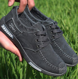 Brands Fashion Canvas Breathable Men Denim Lace-Up Shoes Casual Big Size Male Loafers Comfortable Students Sneakers  #XQJYY-A08