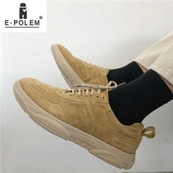Spring Autumn Men Casual Shoes brown Lace-Up Men Flat bottom Shoes sports outdoor breathable fashion solid shoes