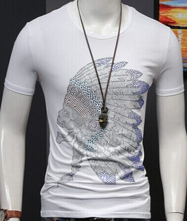 cotton t shirts printing Men casual hot sale top tees  MEN TSHIRT