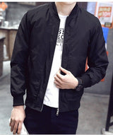 2019 Baseball Jacket Men Spring Autumn Casual Solid Fashion Slim Ma 1 Zipper Bomber Jackets Men Overcoat Mens Thin Pilot Jackets