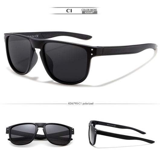 2019 New Style Men's Sun Glasses KDEAM  Brand Polarized Sunglasses Men Classic Design Driving Mirror Sunglasses Male Eyewear
