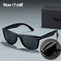 POLARKING Brand Designer Polarized Folding Men Sunglasses For Traveling Oculos de sol Men's Driving Sun Glasses Shades Eyewear
