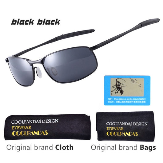 CoolPandas 2019 Polarized Sunglasses Men Brand Designer Small lens Sunglass Men's Driving Sun Glasses gafas oculos de sol UV400