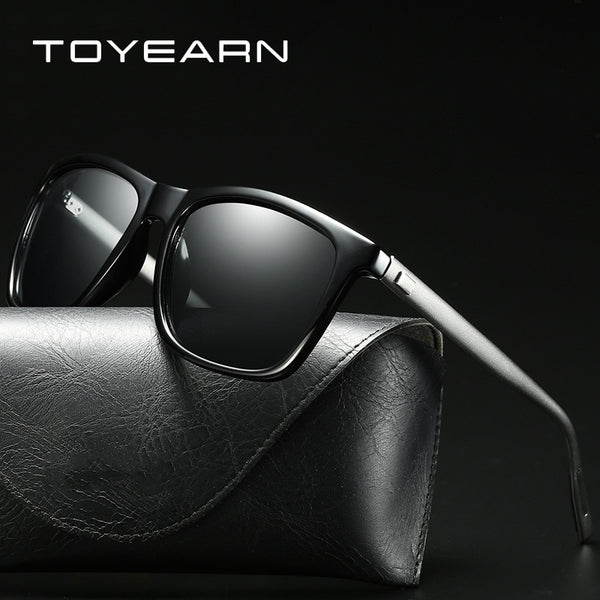 Vintage Brand Design Men's Aluminium Magnesium Square Polarized Sunglasses Men Women Driving Points Sun Glasses For Male UV400