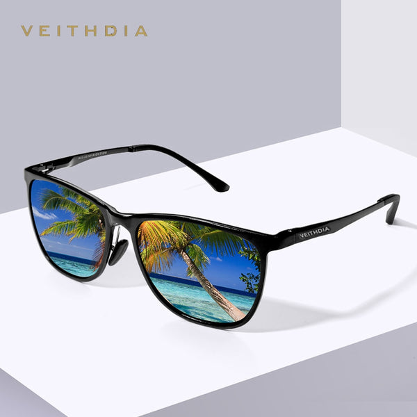 VEITHDIA Retro Aluminum Magnesium Brand Men's Mirror Sunglasses Polarized Lens Vintage Eyewear Driving Sun Glasses For Men 6623
