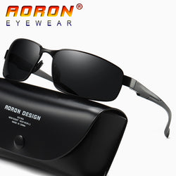 AORON Brand Men's Vintage Square Sunglasses Polarized UV400 Lens Eyewear Accessories Mens Vintage Sun Glasses For Men A511
