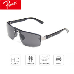 Psacss NEW Sunglasses Men Vintage Square Alloy Frame Men's Driving Fishing Sun Glasses High Quality Goggle lentes de sol hombre