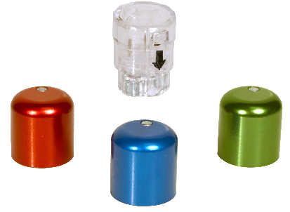 lightweight rodent skin button caps for group housing and clear bile recirculation cap