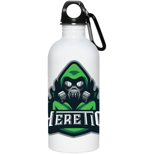 Heretic Logo Water Bottle Green - Tournament Survival