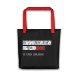 Hippopotomonstrosesquippedaliophobia Tote bag