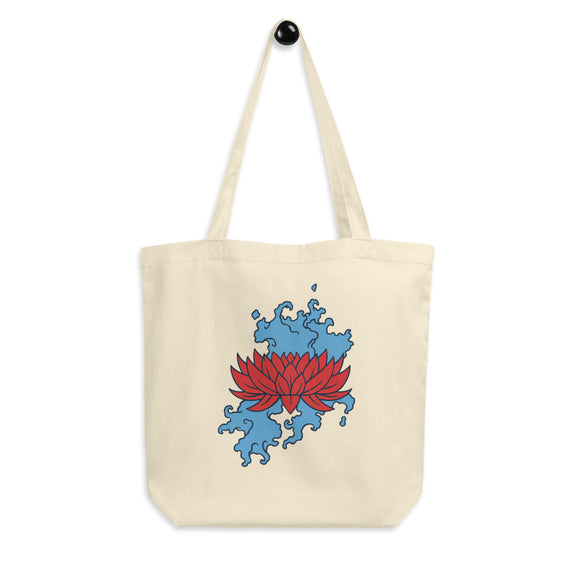 Red Lotus Tote Bag