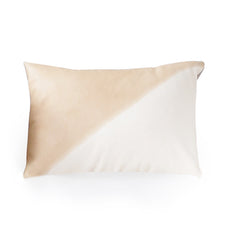 Two Tone Modern Leather Pillow - 12 x 16