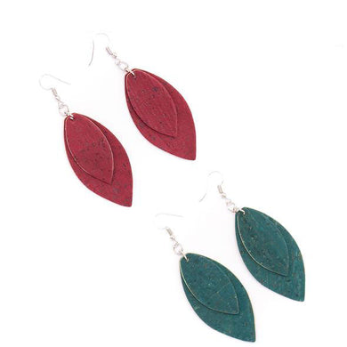 Red and green, double leaf shape pendant