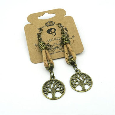 Natural, with brass Tree of Life pendant