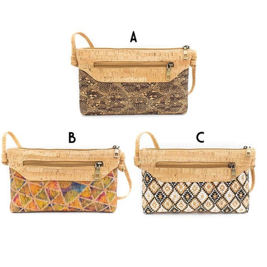 Crossbody bag with zipper in different designs
