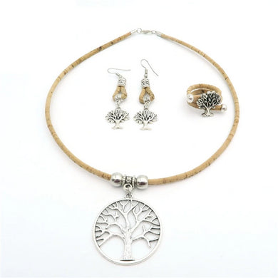 Natural, with Tree of Life pendants