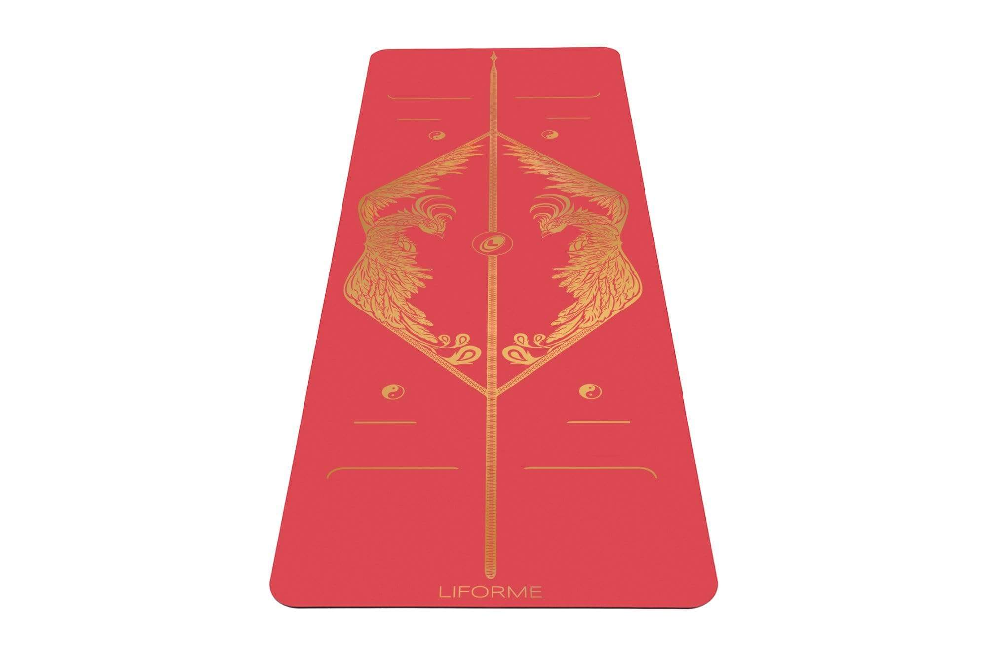 Portrait view of Phoenix Yoga mat from Liforme
