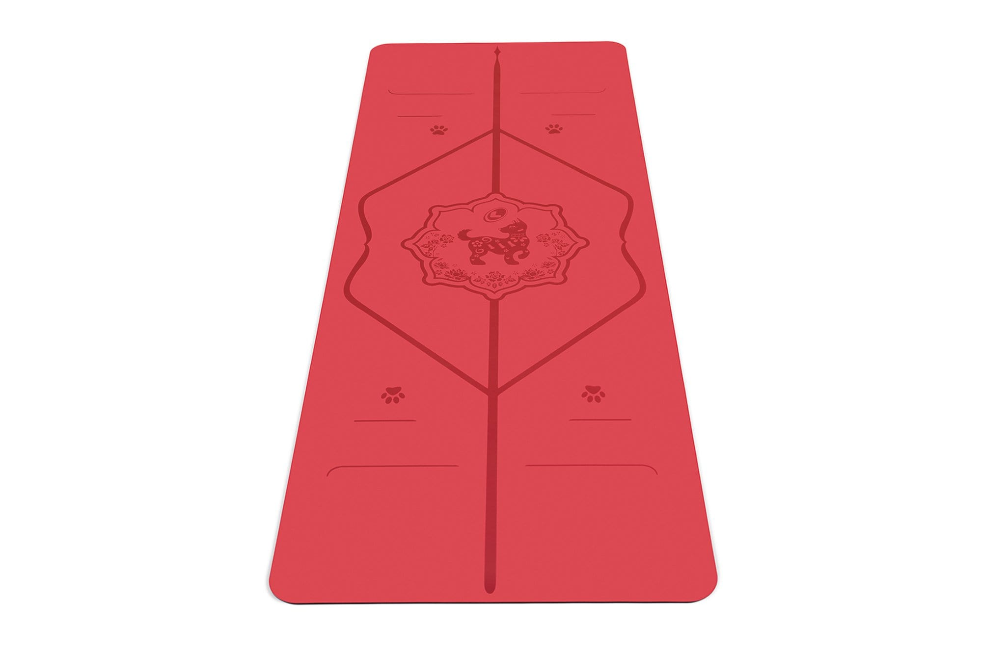 Portrait view of Year of the Dog Yoga mat from Liforme