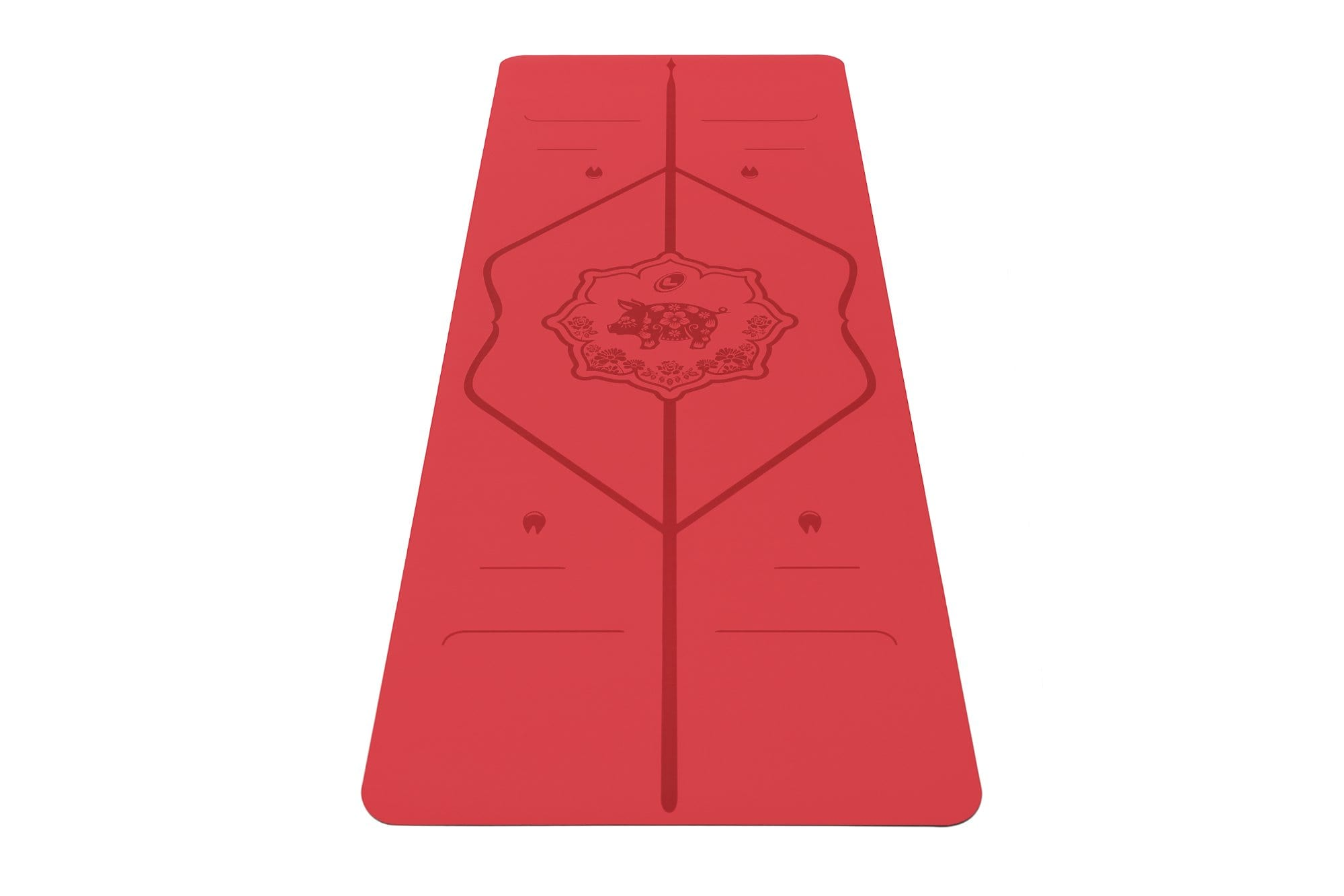 Portrait view of Year of the pig Yoga mat from Liforme
