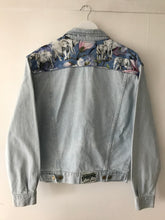 Load image into Gallery viewer, 'Pepe' Upcycled Denim Jacket, Blue Magnolia Elephant Design